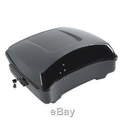 10.7 Chopped Pack Trunk For Harley Tour Pak Touring Road King 2014-2019 Black
