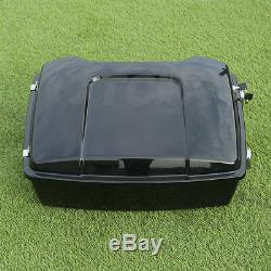 10.7 Chopped Tour Pak Pack Trunk For Harley Touring Road King Glide 1997-2013