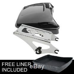 10.7'' Chopped Tour Pak Pack Trunk & Mount Rack For Harley Road King 2014-2018