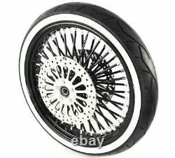 21 3.5 48 Black Spoke Front Wheel Black Tire Rotor Harley Touring Package DD WWW
