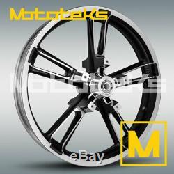21 Enforcer Wheel Reinforcer Rim Black Contrast For Harley Touring Bagger Model