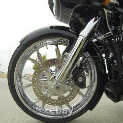 21 Wheel Wrap Front Fender For Harley Touring Street Glide baggers Vivid Black