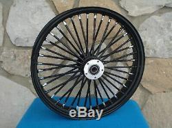 21 X 3.5 Black 38 Fat King Spoke Front Wheel Harley Touring Bagger 2000-07