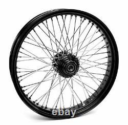 21 x 3.5 Black 60 Spoke Front Wheel Rim Single Disc Harley Touring & Softail