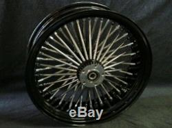 21x3 16x3.5 Dna 52 Spoke Fat Daddy Black Wheel 4 Harley Softail Touring Baggers