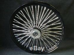 21x3.5 & 16x3.5 Dna Mammoth 52 Spoke Black Wheel Set Harley Touring Softail