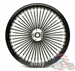 21x3.5 48 Fat King Spoke Front Black Out Rim Dual Disc Harley Touring ABS 08-20