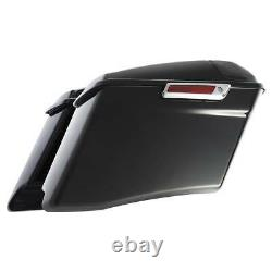 4 Extended Hard Saddlebags With Latch For Harley Touring CVO Road Glide 2014-2020
