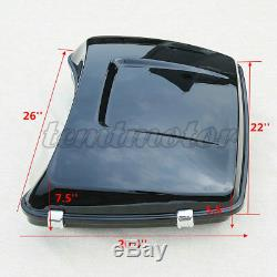 5.5 ABS Razor Pack Trunk with Latch For Harley Tour Pak Electra Road Glide 14-19