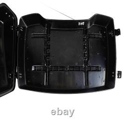 5.5'' Black Razor Pack Trunk with Latch Keys Fit For Harley Tour Pak Touring 97-13