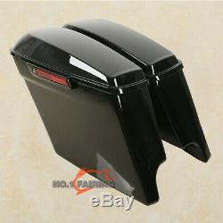 5 Stretched Extended Hard Saddle bags For Harley Touring Street Glide 2014-2019