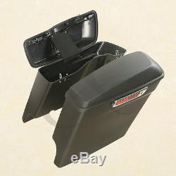 5 Stretched Extended Hard Saddlebags Saddle bags For Harley Touring 2014-2019