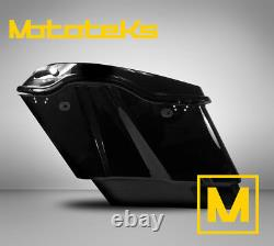 5 Stretched Extended Saddlebags Abs For Harley Touring Bagger Models 93-18