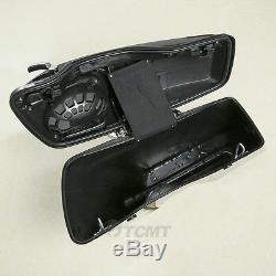 5 Stretched Extended Saddlebags with Speaker Cutout For Harley Touring 2014-2020