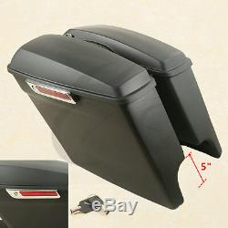 5 Stretched Saddle Bags For Harley HD Touring Road King Street Glide 2014-2020