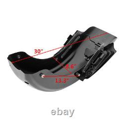 5 Stretched Saddlebags & CVO Rear Fender For Harley Touring Road King 2009-2013