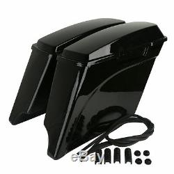 5 Vivid Stretched Extended Hard Saddlebags For Harley Touring Models 1993-2013