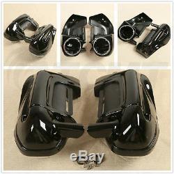 6.5 Speaker Box Pods Lower Vented Leg Fairings Fit For Harley Touring 1983-2013