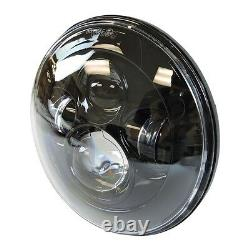 7 LED Daymaker Headlight + Passing Lights Harley Davidson Touring Road King BLK
