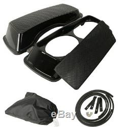 ABS Dual 6x9'' Saddlebags Speaker Lids Fit For Harley Davidson Touring 1993-2013