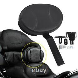 Adjustable Plug-In Driver Rider Backrest For Harley Touring Road King FLHR 97-19