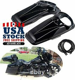 Advan Vivid Black 8'' inch Speaker Lids for Harley Touring Street Road Glide 14+