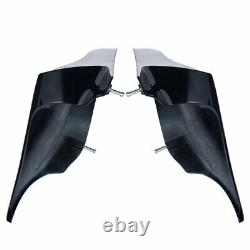 Advan Vivid Black Stretched Extended Side Cover For 14+ Harley Davidson Touring