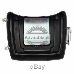 Advanblack Vivid Black King Tour Pak Pack Luggage For 97-'19 Harley Touring FLHX