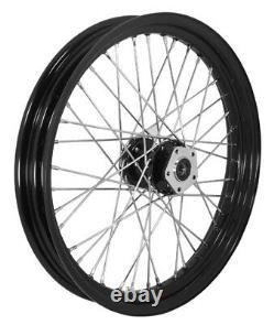 Billet 40 Spoke 23 x 3 Front Wheel Rim Harley Touring Dual Disc Black