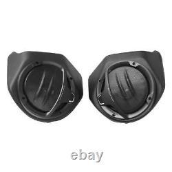 Black 6.5 King Pack Trunk Rear Speakers For Harley Tour Pak Touring 2014-2020