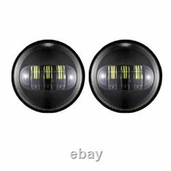 Black 7 inch LED Projector Headlight Hi/Low+Passing Lights For Harley Touring