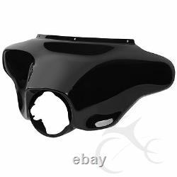 Black ABS Plastic Batwing Inner Outer Fairing For Harley Touring FLHT FLHX 96-13