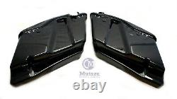 Black CVO Extended Stretched Bag with 6x9 Speaker Lids for 2014 UP Harley Touring