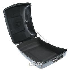 Black Chopped Pack Trunk Backrest Rack For Harley Tour Pak Road Glide 14-20 TCMT
