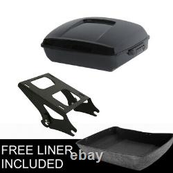 Black Chopped Trunk Mount Rack Fit For Harley Tour Pak Pack Road Glide 2014-2021