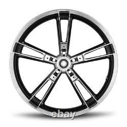 Black Contrast Reinforcer Enforcer Front Wheel Rim 21 3.5 Harley Touring 08-20