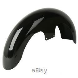 Black Front Fender For Harley Custom Baggers Touring Model FLTR FLHT FLHR FLHX