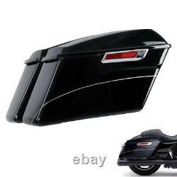 Black Hard Bags Sadddlebag Fit For Harley Touring Electra Street Glide 2014-Up