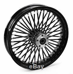 Black Out 18 3.5 48 Fat King Spoke Rear Wheel Rim Harley Touring Softail Bagger
