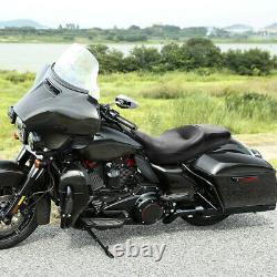Black Rider Passenger Seat Fit For Harley Touring FLHR FLHX FLTRX FLHTK 09-21 20
