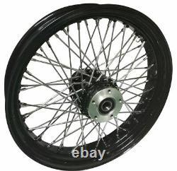 Black Rim Hub 16 x 3.5 60 Spoke Rear Wheel Rim Harley Touring Dyna Softail Xl