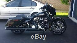 Black S&S Power Tune Crossover Headers Exhaust Head Pipes 95-2008 Harley Touring
