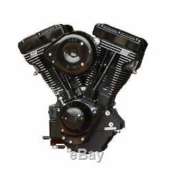 Black S&S V124 124 Evolution Evo Motor Engine Harley Softail Dyna Touring FXR
