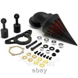 Black Spike Air Cleaner Intake For Harley Softail Dyna Touring