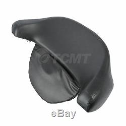 Black Tour Pack Pak Backrest Pad Trunk For Harley Davidson Touring Models 97-13