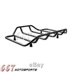 Black Tour Pak Pack Luggage Top Rack For Harley Touring Road King Street Glide