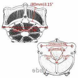 CNC Aluminum Air Cleaner Intake Turbine Filter For Harley Touring Softail Dyna
