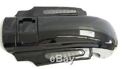CVO Dual Cut Stretched Rear Fender w LED + Wire Harness for 14 up Harley Touring