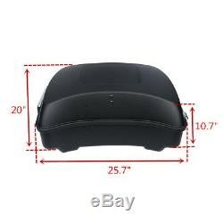 Chopped Matte Black Pack Trunk Rack Fit For Harley Tour Pak Touring Glide 14-19