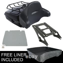 Chopped Pack Trunk Backrest Fit For Harley Tour Pak Road King Glide 2014-2020 19